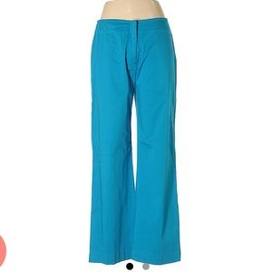 Reba Teal Blue Flared Low Rise Boyfriend Pants- 10